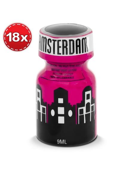 Pack Com 18 Amsterdam Poppers 9ml - 9ml - PR2010334025