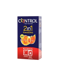 Preservativos Control 2In1 Finissimo + Lube Nature 6 Uni. - PR2010348147